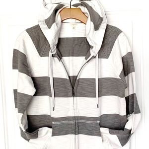 NWOT J. Crew Striped Cotton Hoodie